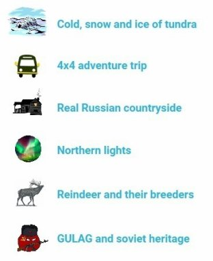 Arctic adventure tour highlights