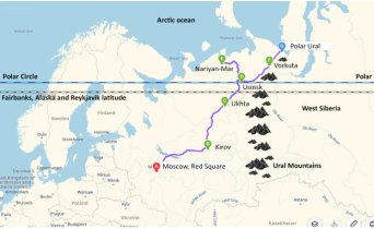 Arctic adventure tour map